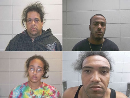 Four arrested on numerous charges after search of Wareham