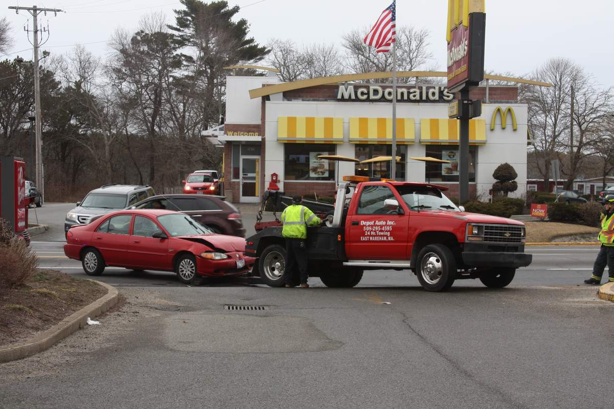 Two-car crash slows traffic on Cranberry Highway - Wareham